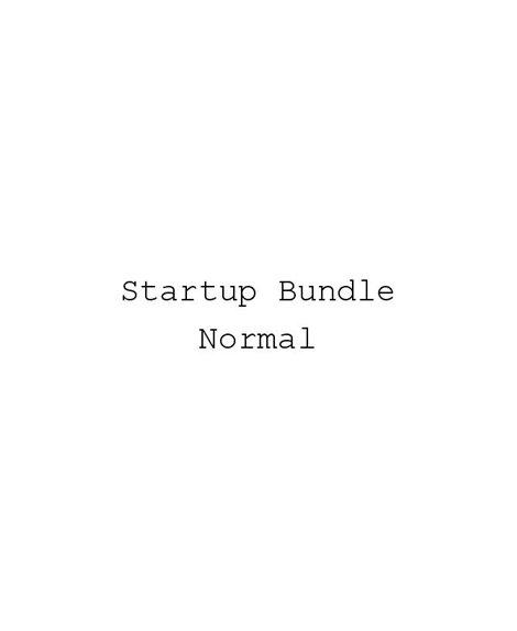 Startup Normal